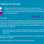 Microsoft gift cards incoming?