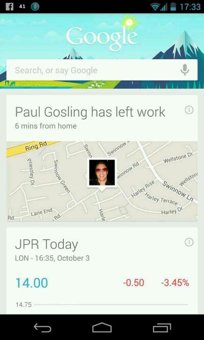 Google Search app updated   Automatically tells friends and family when youre leaving work