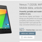 Nexus 7 32GB, now with a bit of 4G action for £299