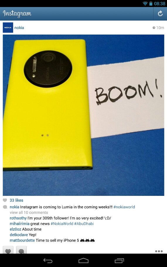 Nokia announce that official Instagram app is coming to Windows Phone in the next few weeks