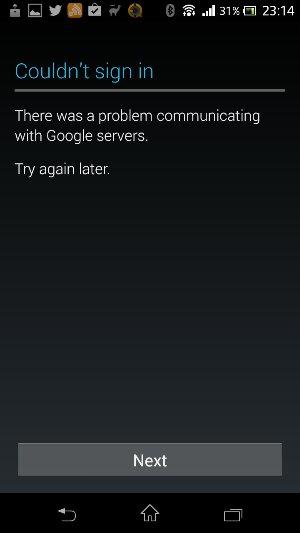 Google Servers down?