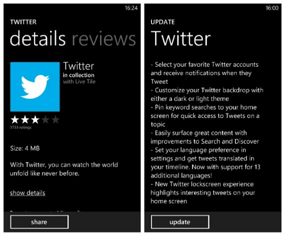 Twitter for Windows Phone gets a feature that other OS's havent yet got