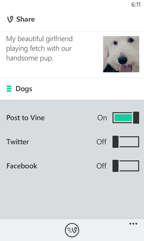 Vine officially available on Windows Phone