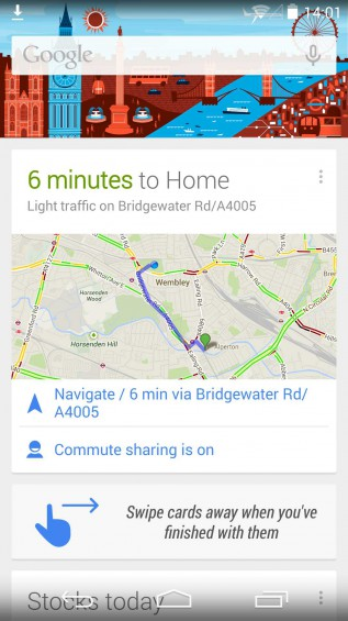 Fullscreen Google Now