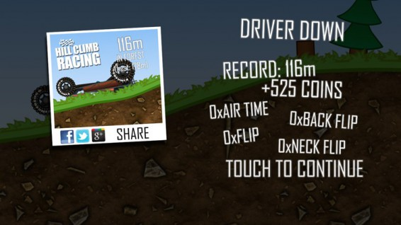 Hill Climb Racing now available on Windows Phone