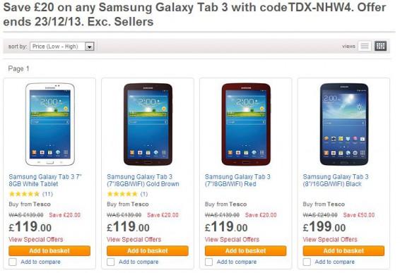 Samsung Galaxy Tab 3   Now less than £100