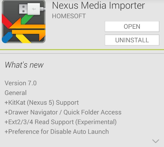 Nexus Media Importer gets an update to support the Nexus 5