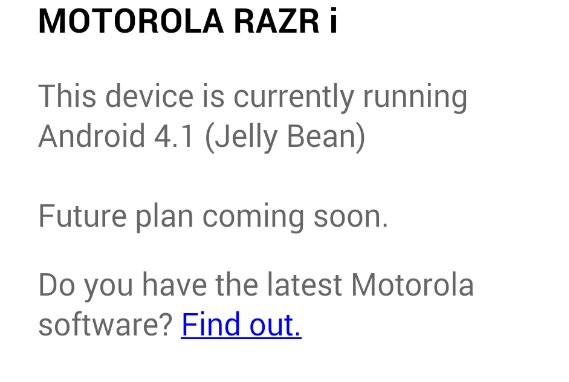 Will the Motorola RAZR i get KitKat?