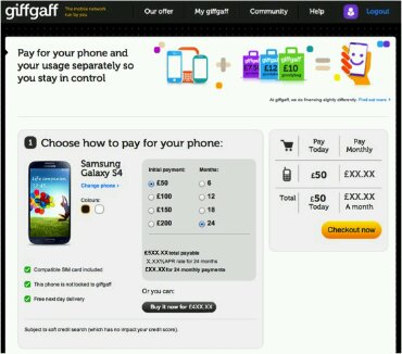 Giffgaff phone range announced   Buy yours this month