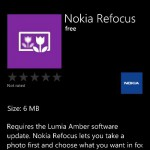 Nokia Refocus is now available for Windows Phone