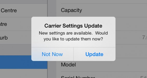iPhones on Three start getting carrier updates
