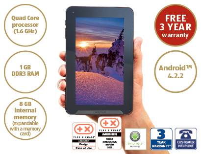 Medion Lifetab E7613 Android tablet flash sale [bargain]