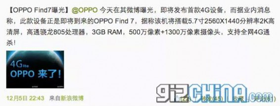 Oppo Find 7 or Vivo Xplay 3S to be the worlds first production 2K smartphone?
