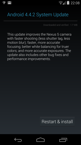 Android 4.4.2 Now rolling to Nexus devices