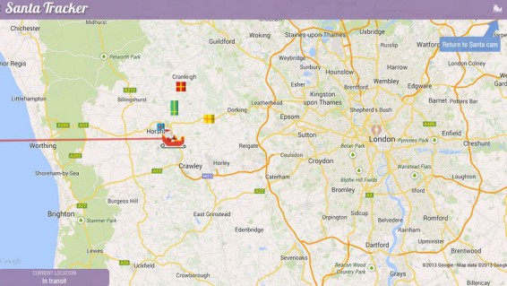 Santa Claus is coming to town, follow him on your mobile