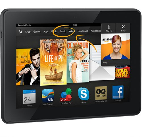 Kindle Fire HDX   £30 off today. Get a drone to deliver it.