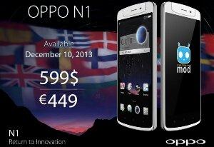 Oppo N1 goes on Sale €499