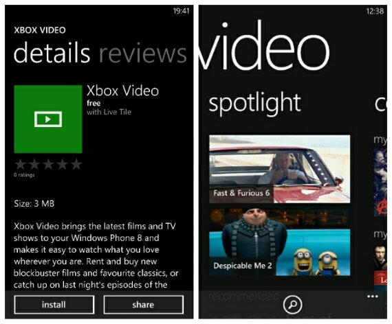 Xbox Music and Video apps now available for Windows Phone