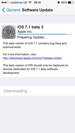 Apple releases 7.1 Beta 3 to Developers