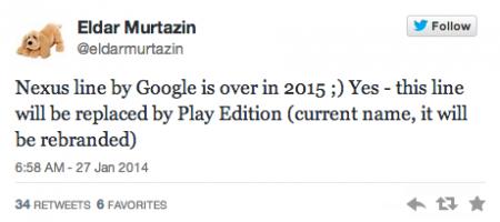 Nexus brand stopping in 2015?