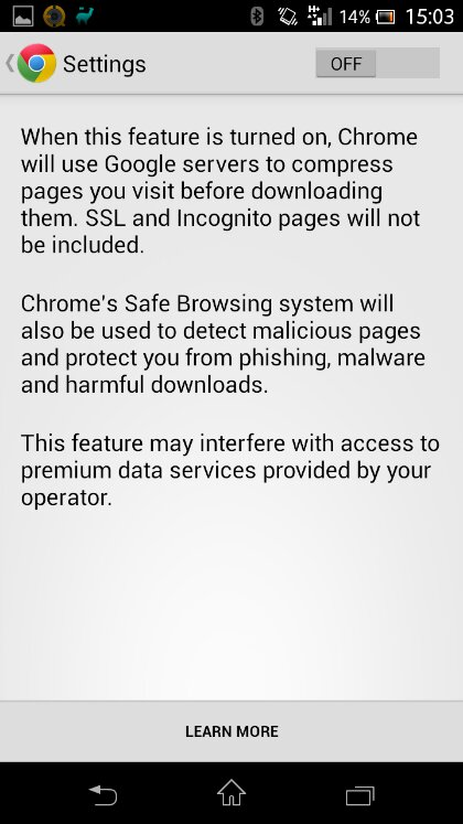Chrome updated, now adds data compression