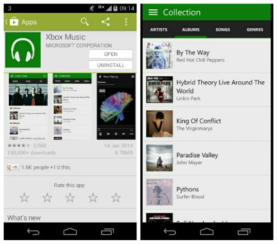 Xbox Music for Android update adds offline music support