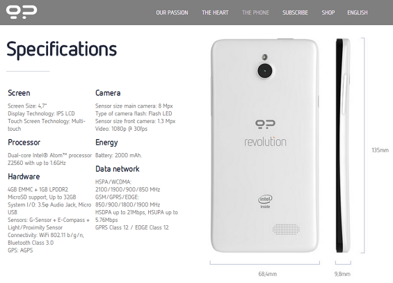 The dual OS Geeksphone Revolution is now available to order
