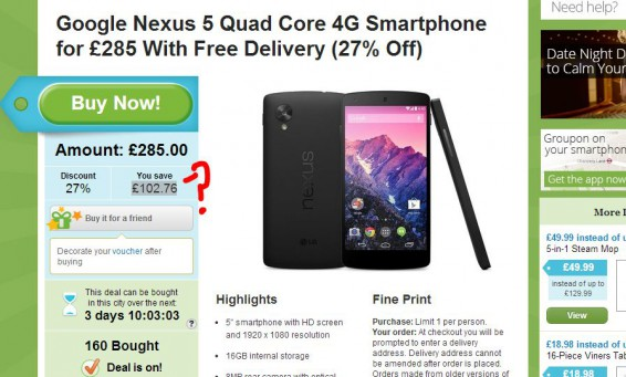 Nexus 5, get it cheaper if youre quick