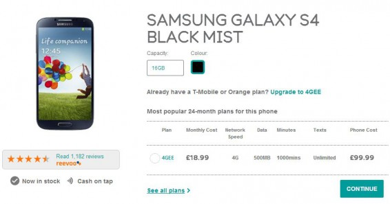 Samsung Galaxy S4 deal on EE   Check before you buy