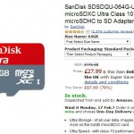 Sandisk Ultra 64GB only £27.99