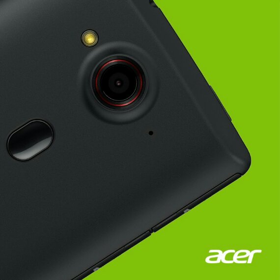 What on earth is that button on the back of a teaser image phone from Acer