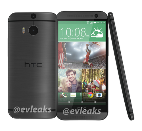 Update   HTC M8, in slate, looking great, not long to wait