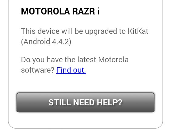 It seems like the Motorola RAZR i might get KitKat after all