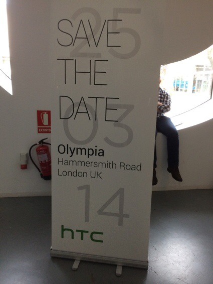 Follow us at HTC event in London