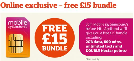 Sainsburys offer up a rather amazing mobile deal