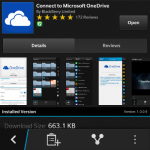 Microsoft OneDrive is now available for BlackBerry