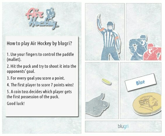 Blugri release their successful game Air Hockey for Android and Nokia X