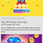 Google Play Birthday Sale now on