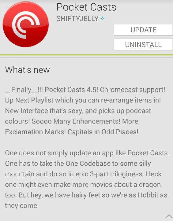 Pocket Casts for Android now supports the Chromecast