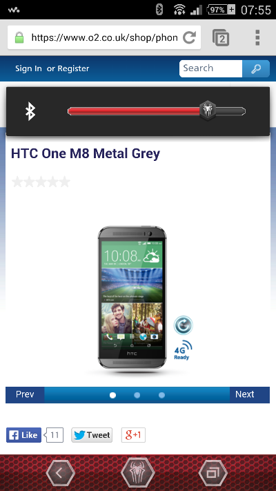 O2 HTC One (M8) Pricing available
