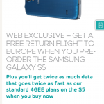 EE announce their pre-order Samsung Galaxy S5 deal