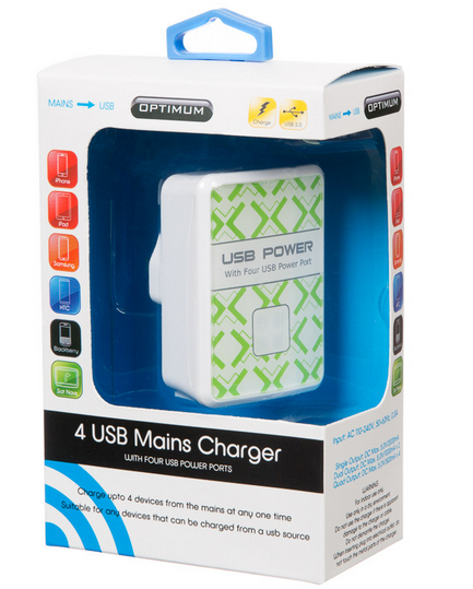 Charge 4 USB devices for just £5