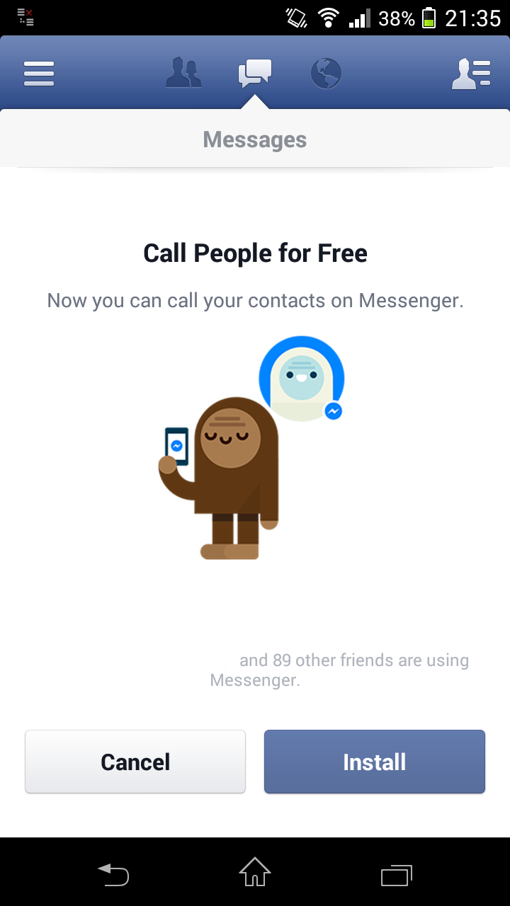 how to delete contact in facebook messenger on android tablet