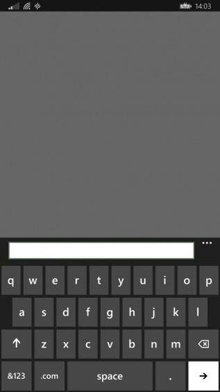 wp8.1 keyboard and status bar