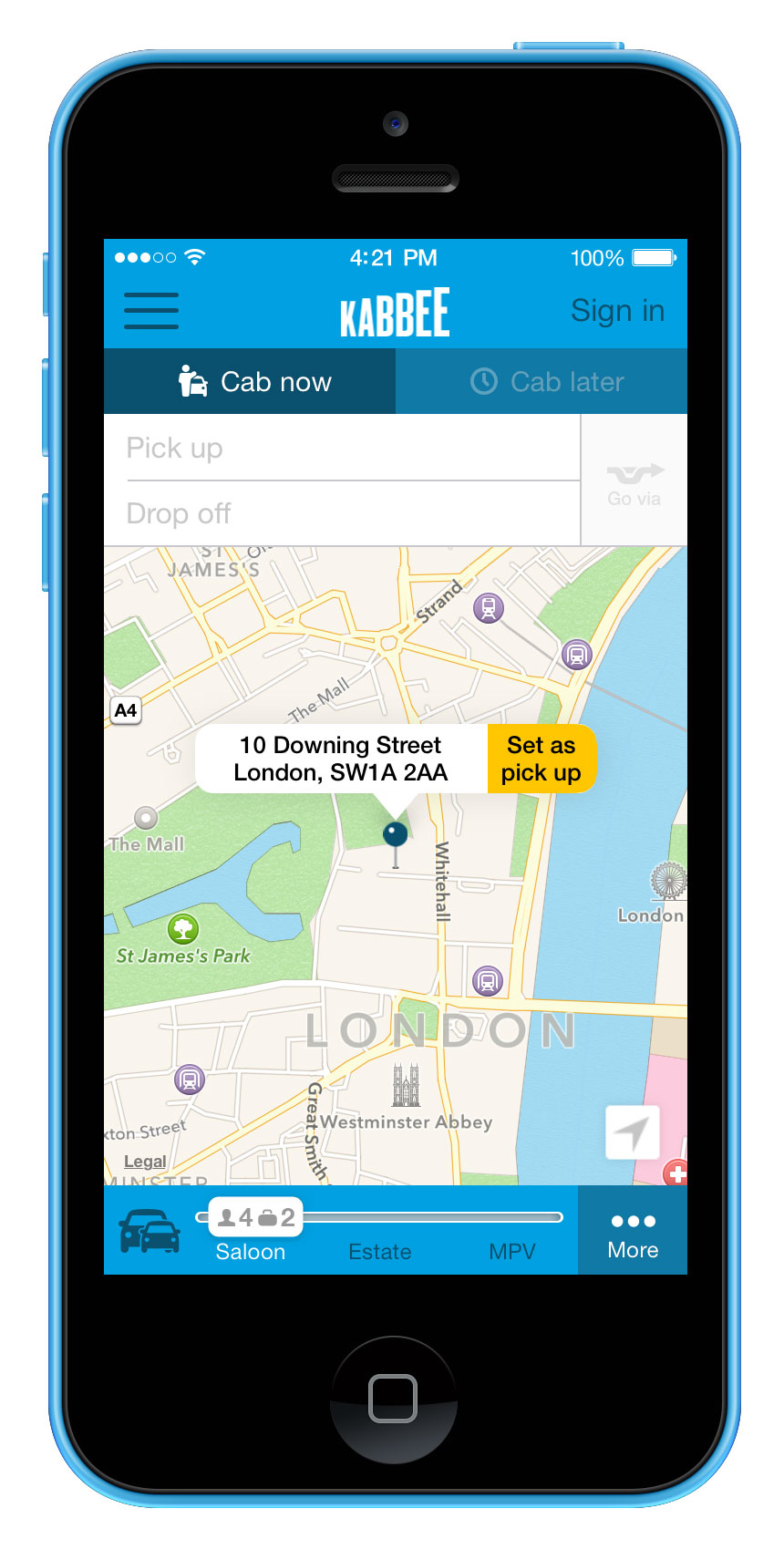Kabbee LandingPage iPhone5