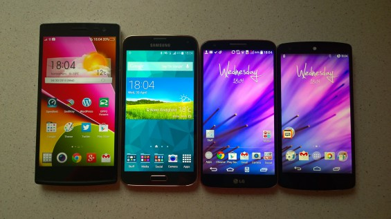 Samsung Galaxy S5 Comparison