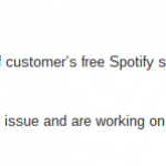 Voda Spotify problems? Let us know