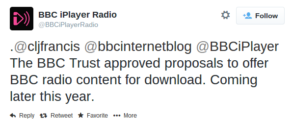 BBC iPlayer Radio downloads coming soon