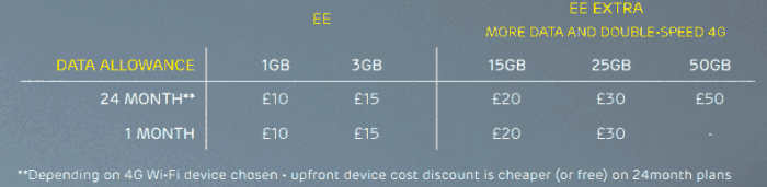 Let the birds fly   EE introduce a range of mobile WiFi solutions
