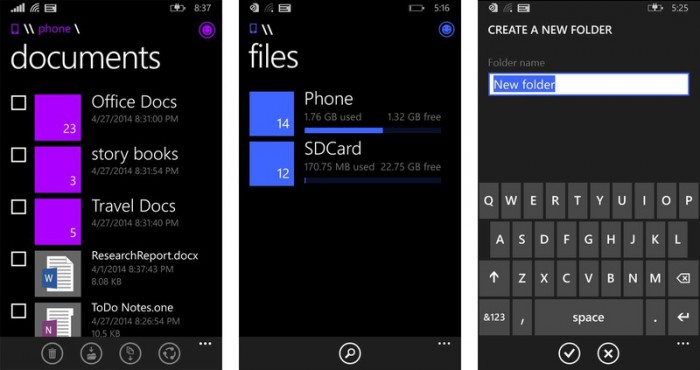 A File Manager arrives for Windows Phone